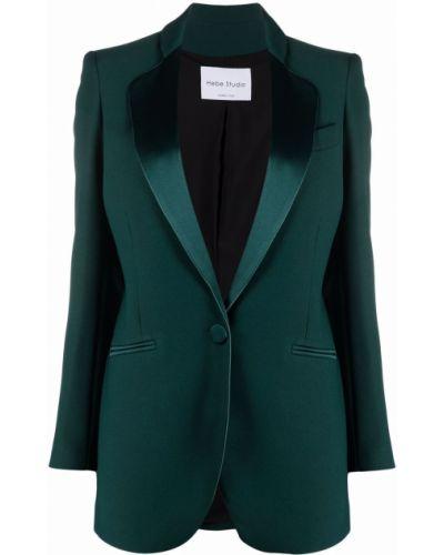 Зеленый однобортный пиджак Hebe Studio