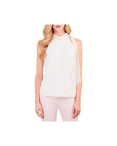 Блузка приталенная белая Luisa Spagnoli