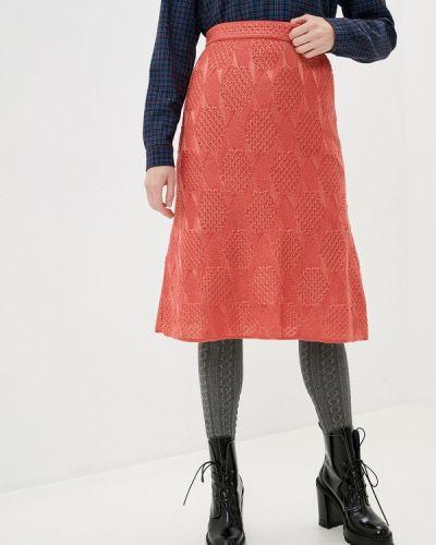 Красная юбка свободного кроя Missoni