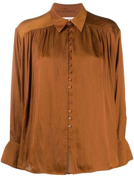 Классическая коричневая классическая рубашка с воротником на пуговицах Zadig&voltaire