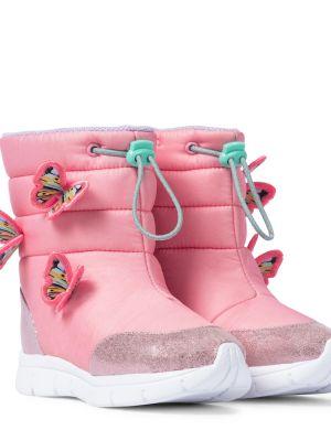Włókienniczy różowy buty z motylem Sophia Webster Mini