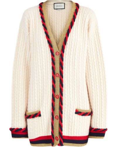 Вязаный кардиган итальянский длинный Gucci
