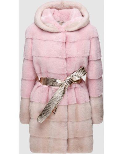 Норковая шуба - розовая Florence Mode