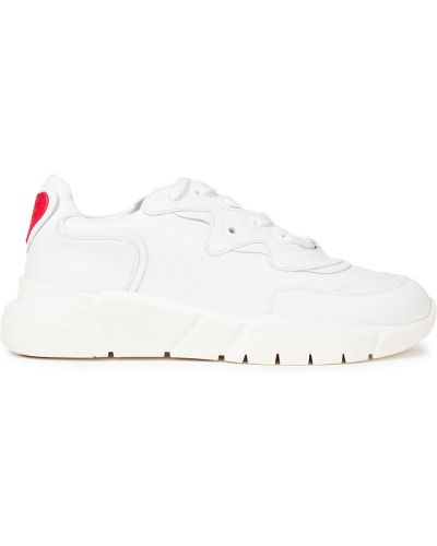 Кожаные кроссовки - белые Love Moschino