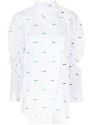Biała koszula z printem Pushbutton