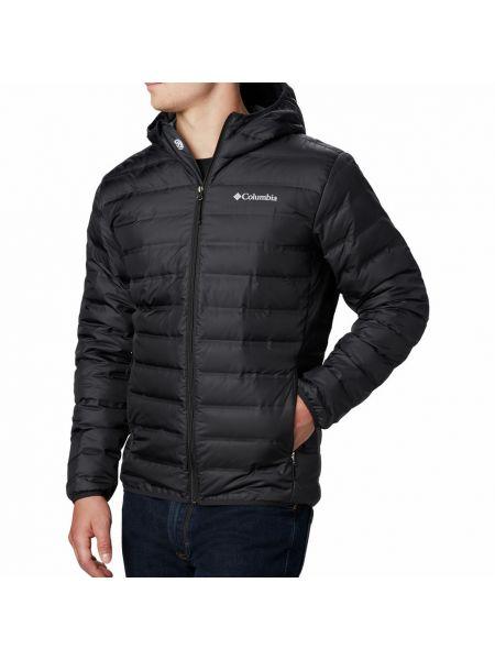 Брендовая пуховая черная куртка Columbia