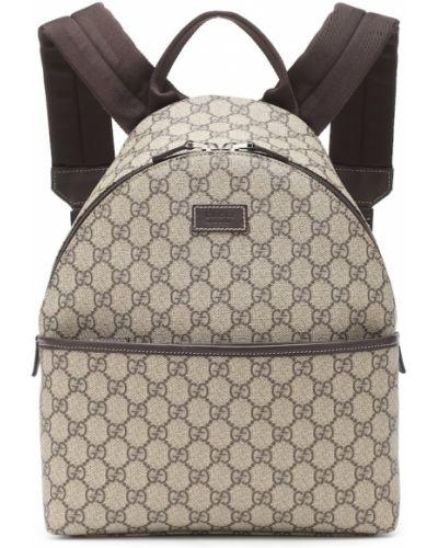 Skórzany plecak torba na plecak beżowy Gucci Kids
