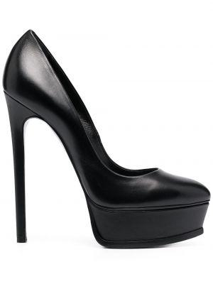Кожаные туфли-лодочки на каблуке на платформе Casadei