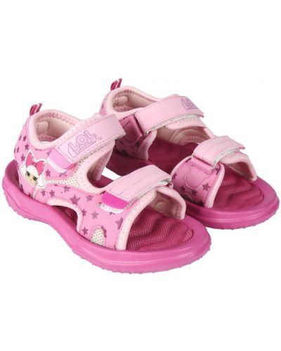Różowe sandały sportowe materiałowe Lol