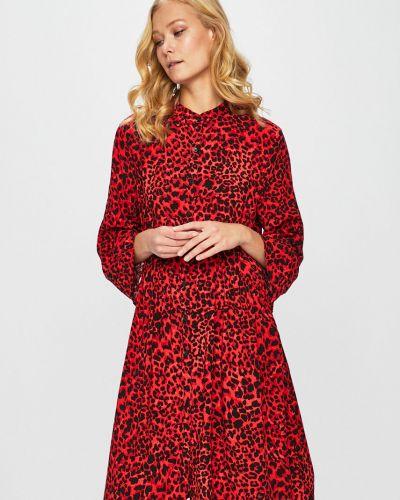 Платье на пуговицах расклешенное Only
