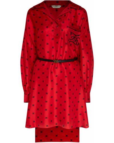 Платье мини платье-рубашка шелковое Fendi