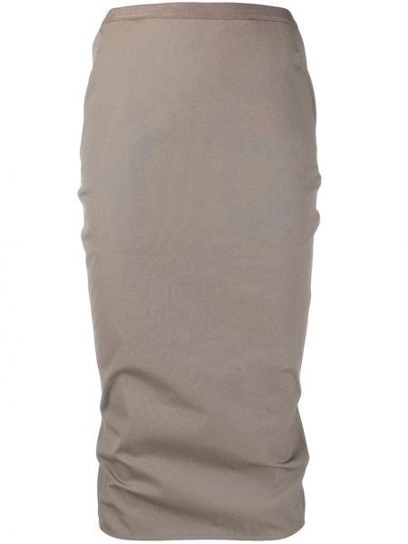 Юбка миди с завышенной талией с вырезом Rick Owens