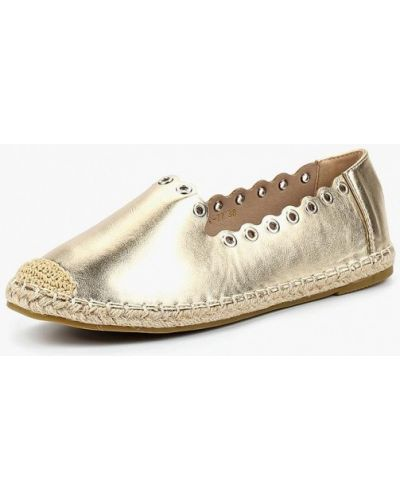 Кожаные туфли золотые Ws Shoes