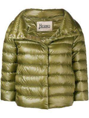 Zielona krótka kurtka pikowana Herno