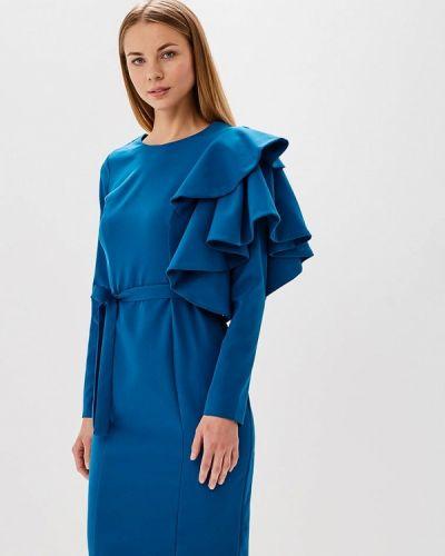 Платье весеннее синее Bruebeck