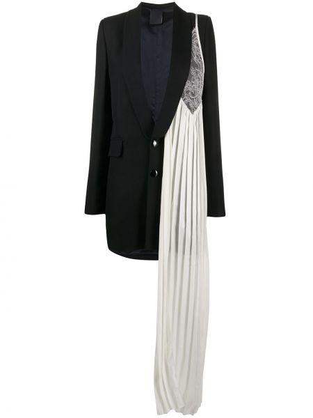 Шерстяной черный пиджак на пуговицах Seen Users