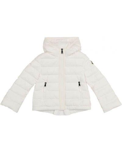 Пуховая белая куртка Moncler Enfant