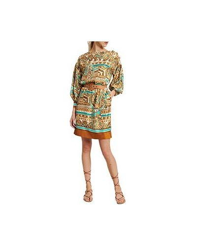 Повседневное бежевое платье из вискозы Luisa Spagnoli