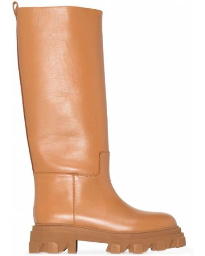 Кожаные ботинки - коричневые Gia Couture