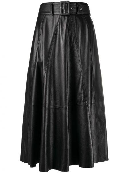 Черная прямая с завышенной талией юбка миди на молнии Arma