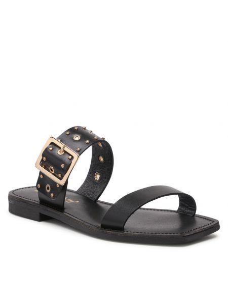 Czarne sandały casual Carinii