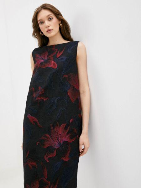 Платье прямое черное Stefanel