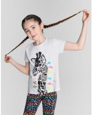 Прямая футболка с пайетками с круглым вырезом с короткими рукавами Ostin