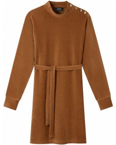 Brązowa sukienka A.p.c.