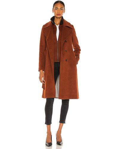 Шерстяное пальто с воротником свободного кроя Soia & Kyo