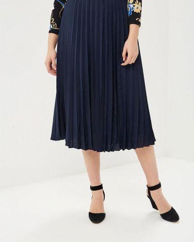 Плиссированная юбка синяя Modis