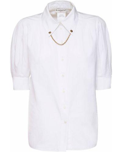 Klasyczna biała klasyczna koszula bawełniana Givenchy