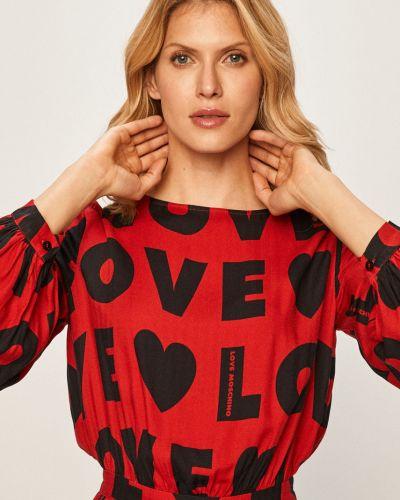 Платье мини повседневное из вискозы Love Moschino