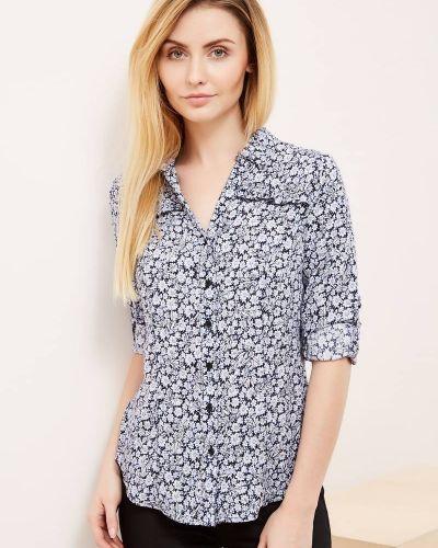 Рубашка в цветочный принт - белая Moodo