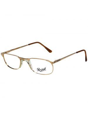 Желтые очки металлические прямоугольные Persol Pre-owned