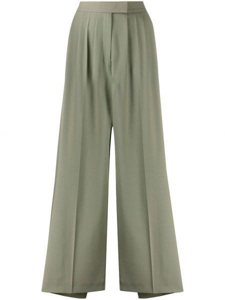 Шерстяная с завышенной талией юбка с разрезом с карманами Frenken