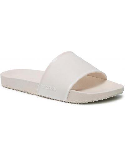 Beżowe sandały casual Zaxy