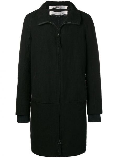 С рукавами черное прямое шерстяное длинное пальто Individual Sentiments