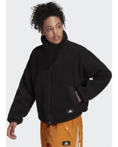 Флисовая куртка - черная Adidas
