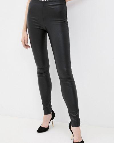 Черные кожаные брюки Selected Femme