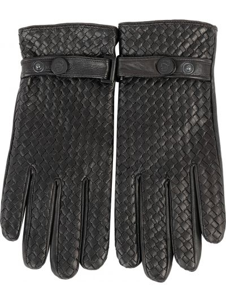 Кожаные перчатки черные Karl Lagerfeld