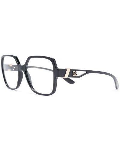 Черные очки квадратные металлические Dolce & Gabbana Eyewear