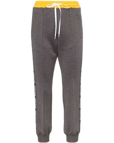 Спортивные брюки серые в полоску Miu Miu
