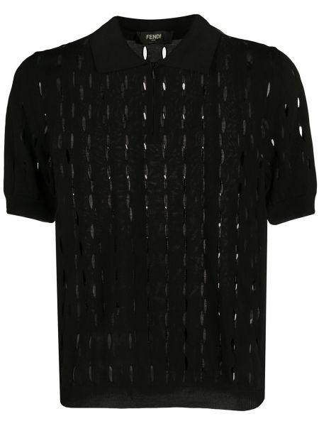 Koszula krótkie z krótkim rękawem klasyczna z kołnierzem Fendi