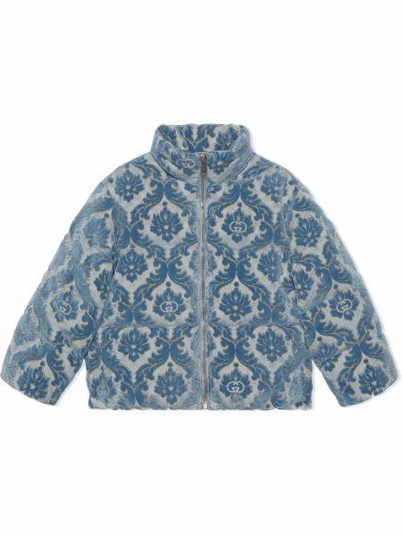 Niebieska kurtka bawełniana Gucci Kids