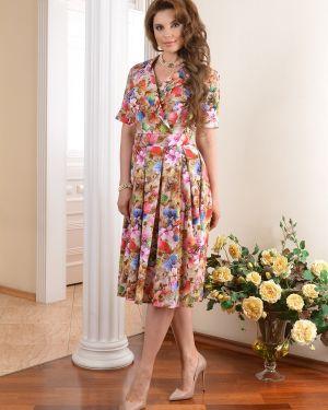 Летнее платье с запахом с цветочным принтом Salvi-s