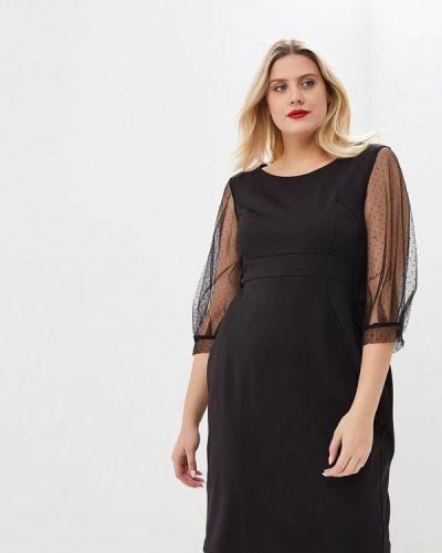 Платье осеннее черное Jp