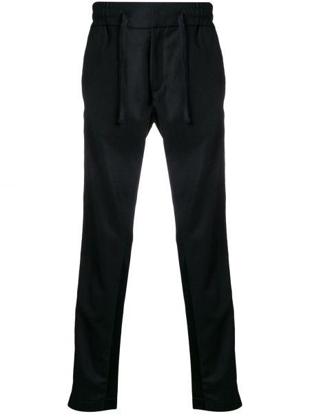 Czarne spodnie wełniane Christian Pellizzari