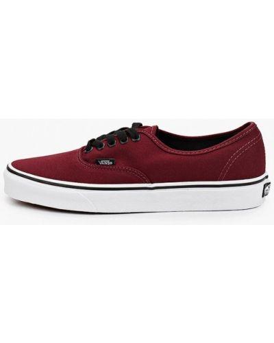 Текстильные красные низкие кеды Vans