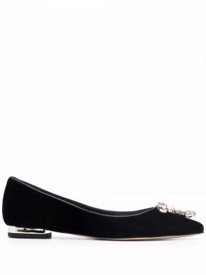 Черные кожаные туфли Sophia Webster