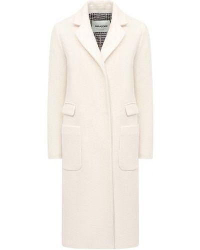 Белое шерстяное пальто с подкладкой Ava Adore